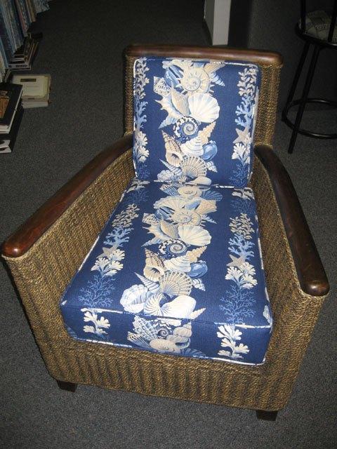 lounger with custom cushion