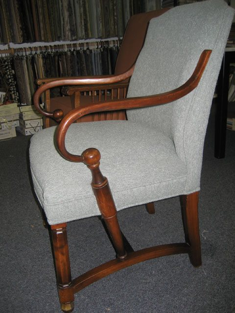 chair with complex frame