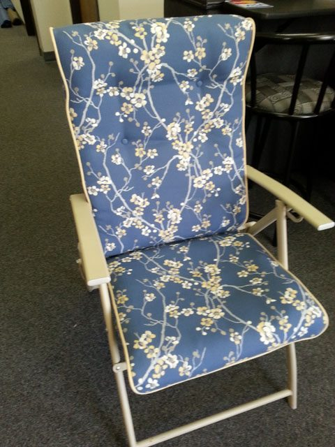 floral lounge chair
