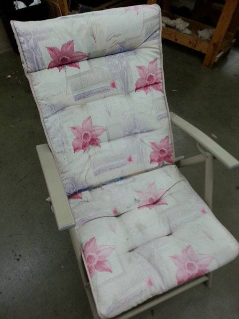 lounge chair floral