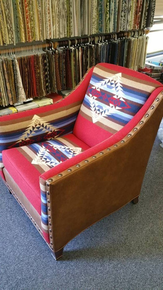 pendleton wool in chair