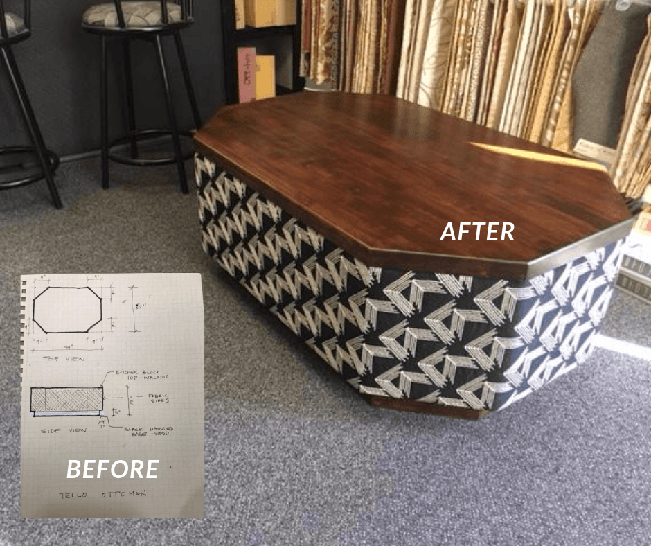 tello ottoman by lim's upholstery